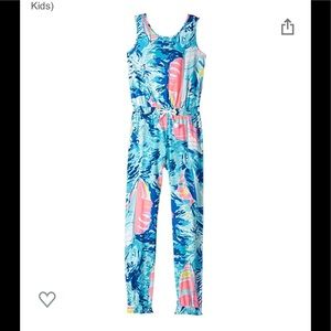 Lilly Pulitzer Imogen Jumpsuit Sparkly Blue